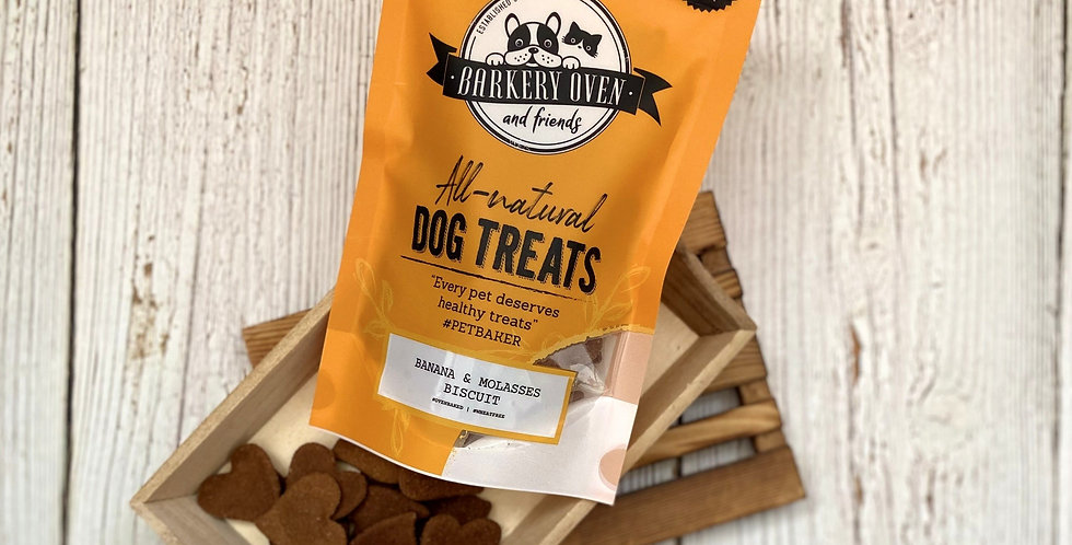 Barkery Oven Wheat Free Banana and Molasses Biscuit Dog Treats