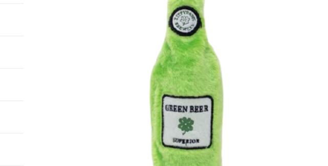 Happy hour Crusherz Dog Toy - Green Beer