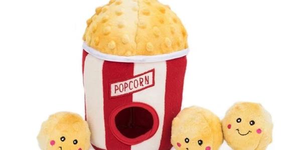Zippy Burrow Dog Toy - Popcorn Bucket