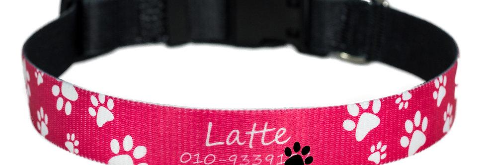 Pawsonalised by Jacq's Bespoke Collar, Pretty Paws, Small/Medium