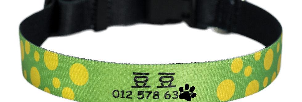 Pawsonalised by Jacq's Bespoke Collar, Polka Dots, Small/Medium