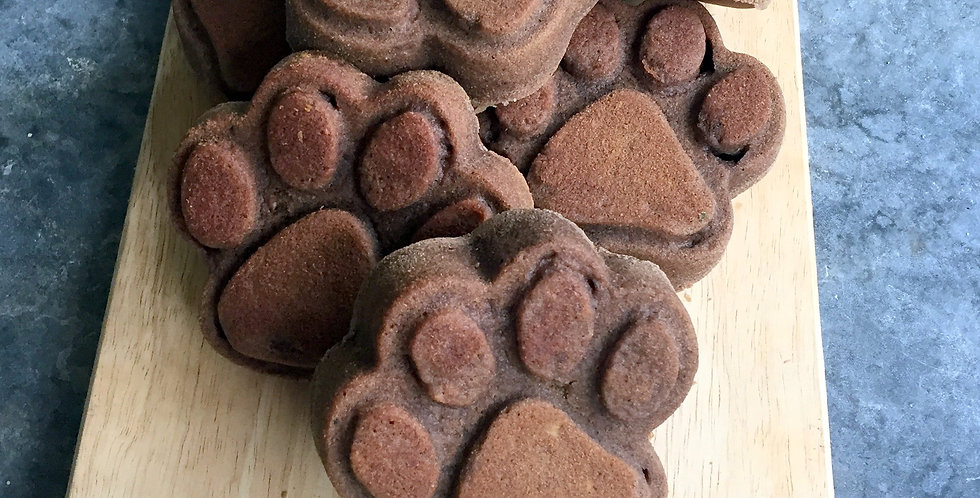 Barkery Oven Wheat Free Banana and Carob Pawffin, 6 pieces