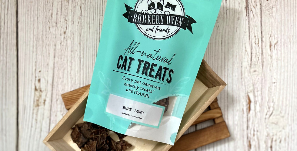 Barkery Oven Beef Lung Cat Treats