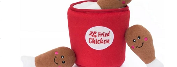 Zippy Burrow Dog Toy - Chicken Bucket