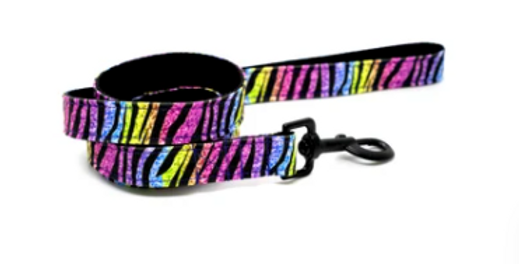 Waggy Woffie Disco Zebra Dog Leash