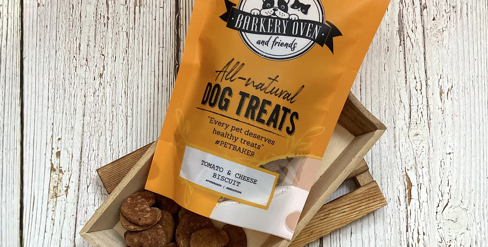 Barkery Oven Wheat Free Tomato & Cheese Biscuit Dog Treats