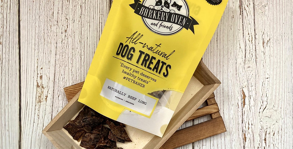 Barkery Oven Naturally Beef Lung Dog Treats