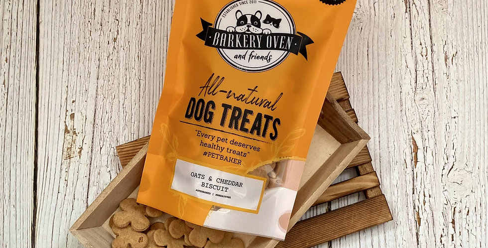Barkery Oven Wheat Free Oats & Cheddar Biscuit Dog Treats