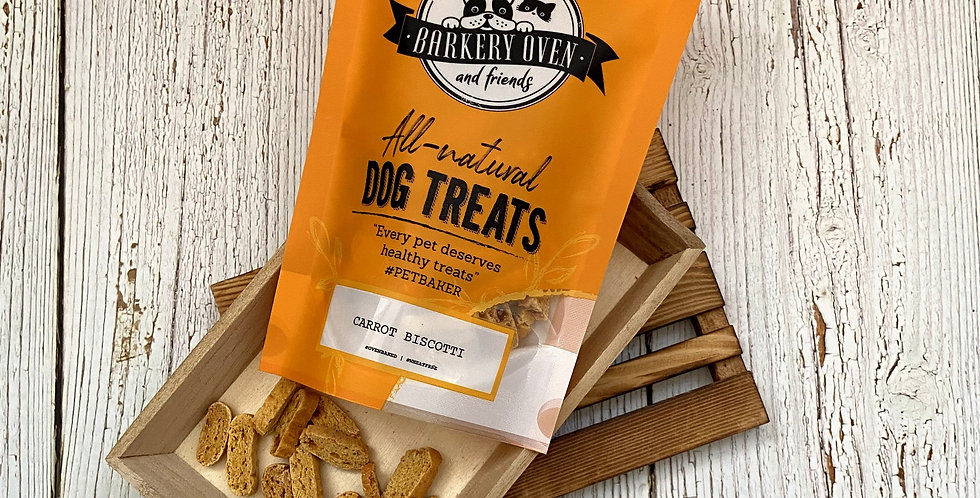 Barkery Oven Wheat Free Carrot Biscotti Dog Treats
