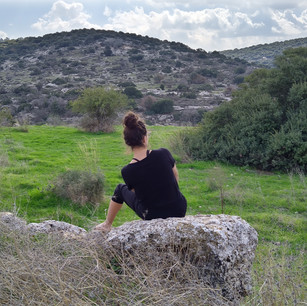 Elah Valley, Israel, Contact on the Road January 2020