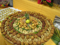 Plateau beignets créoles variés