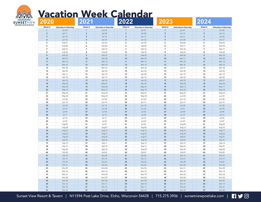 Sunset View Vacation Week Calendar FINAL