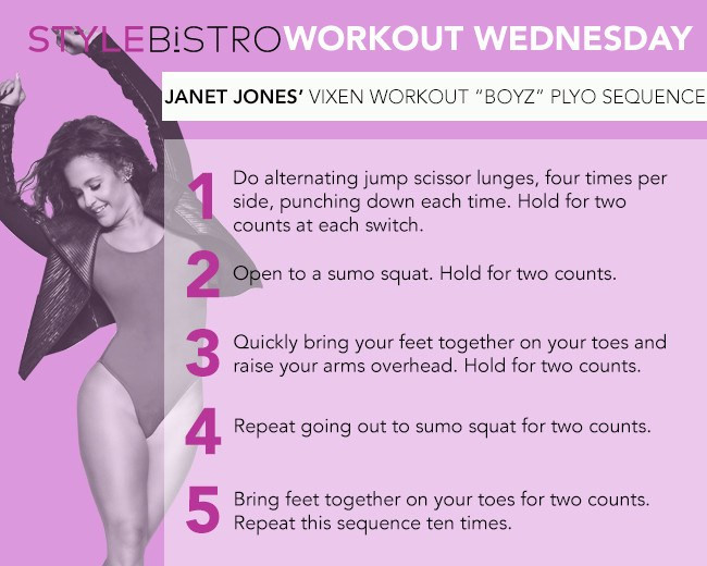 Workout Wednesday: Janet Jones' Plyometric Dance Move