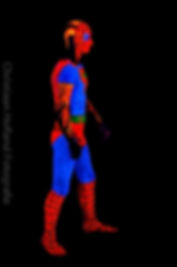 neonpaint spiderman