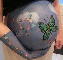 bellypaint vlinder
