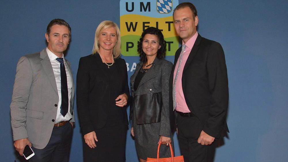 Franchise Nehmer Stefan Streckel, Umweltministerin Ulrike Scharf, Suzi Streckel, Thomas Haschberger