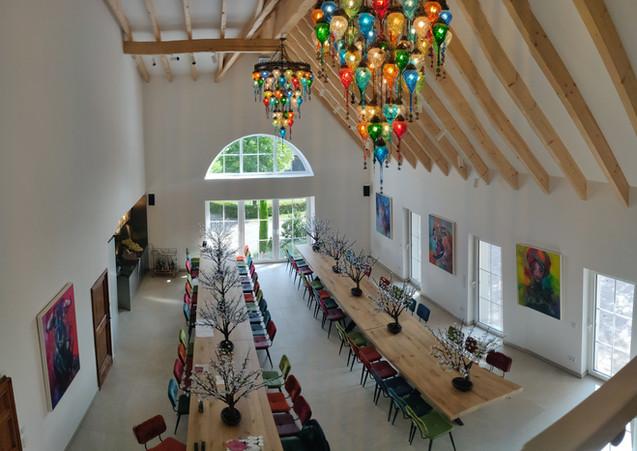 Blick von der Galerie in den Hauptsaal