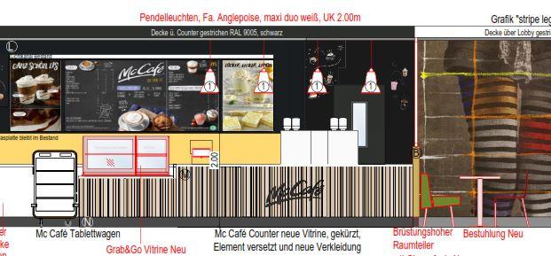 Planung McCafé McDonalds Kammerstein