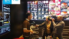 Bayerischer Rundfunk bei McDonald's in Kammerstein