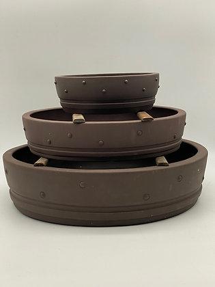 Pot céramique tambour pour bonsaïs