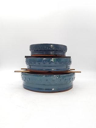 Pot rond émaillé pour bonsaïs
