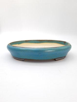 Céramique ovale Sabine Besnard Bleu Okinawa