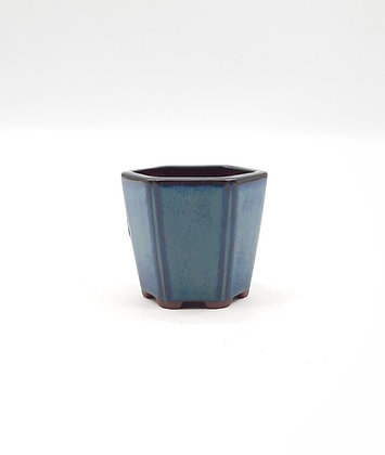 Pot cascade émaillé - Bleu