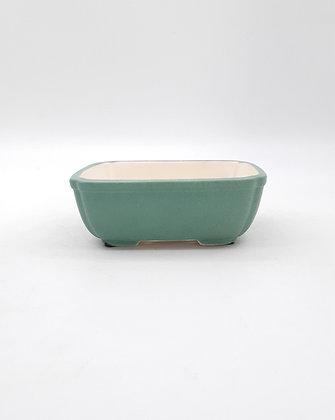 Pot rectangulaire émaillé - Vert