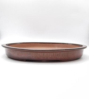 Céramique ovale - couleur rouille