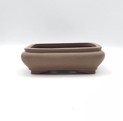 Pot rectangulaire non émaillé pour bonsaïs
