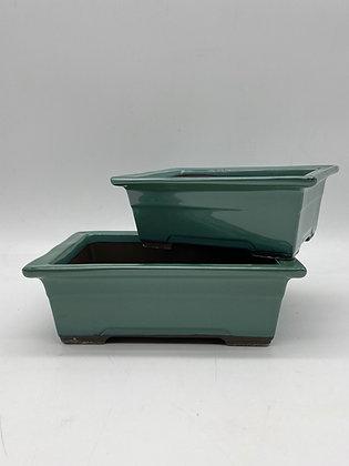 Pot céramique émaillé vert