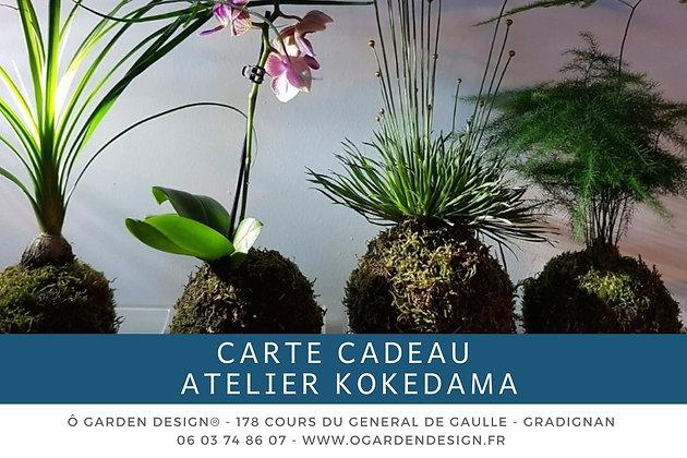 Carte Cadeau Atelier Kokedama