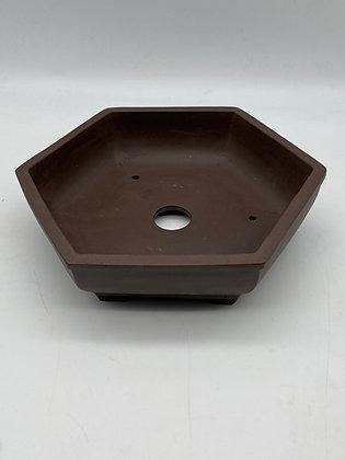 Pot céramique hexagonal