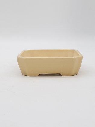 Pot rectangulaire émaillé Beige