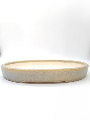 Céramique ovale Sabine Besnard Gris craquelé
