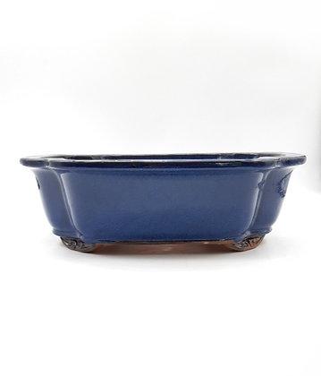 Pot céramique émaillé bleu
