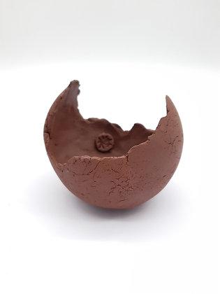 Pot à shitakusa Sabine Besnard terre cuite rouge