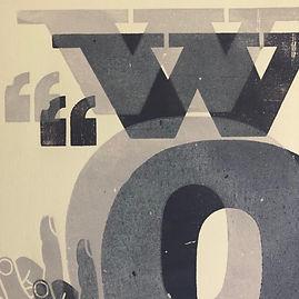 ©wood words letterpress art print