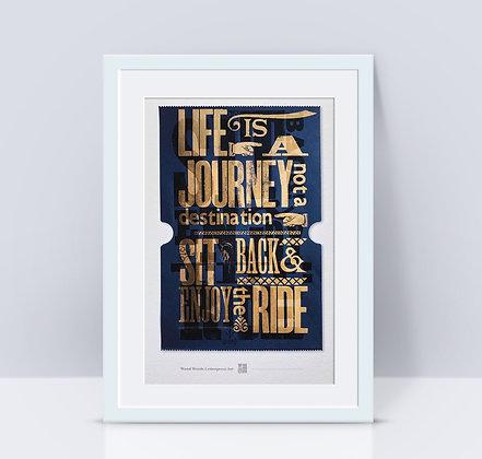 'Ticket to Ride' Original Art Print A5