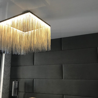 Acoustic fabric wall