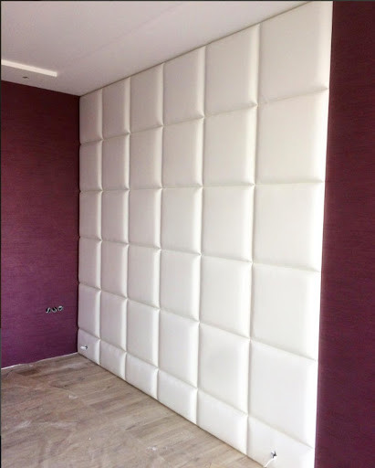 Clean white wall panels