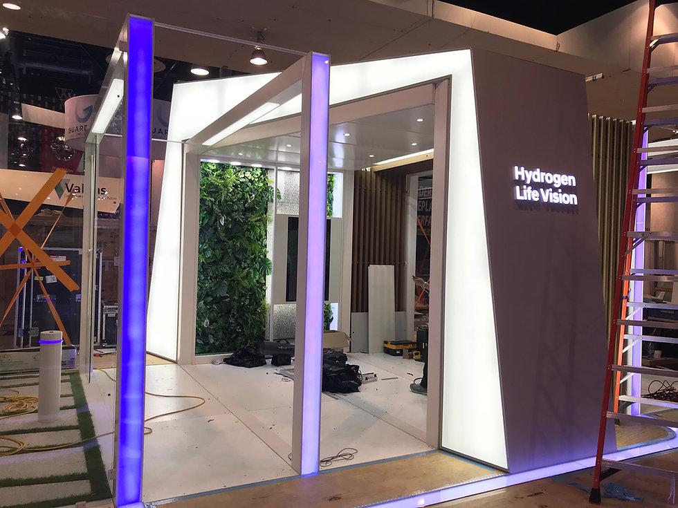 Light accents for Hyundai exhibit  CES 2