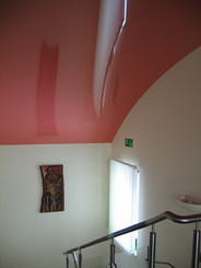 Cherry color Arch ceiling