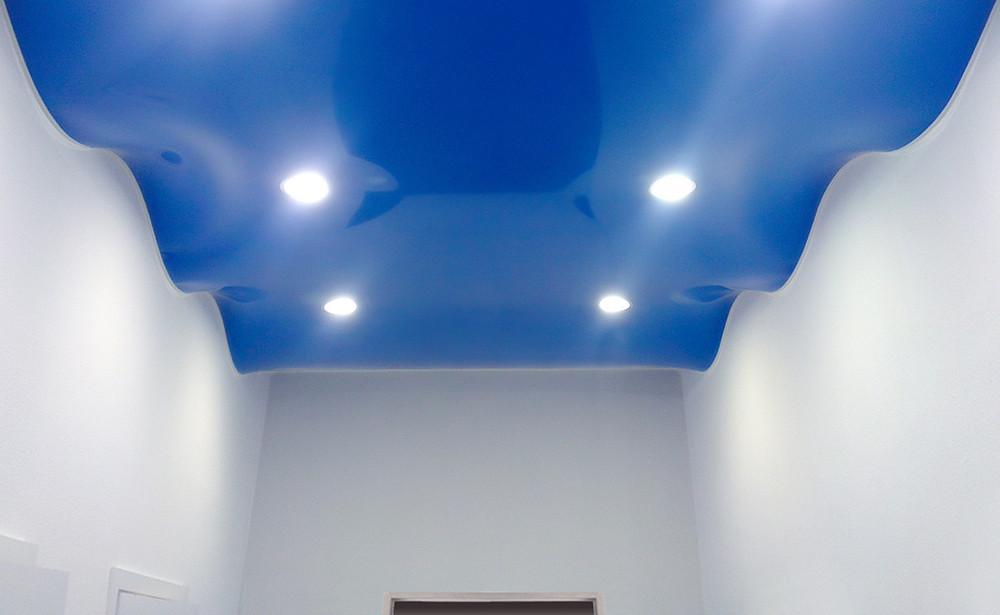 Blue color wave ceiling