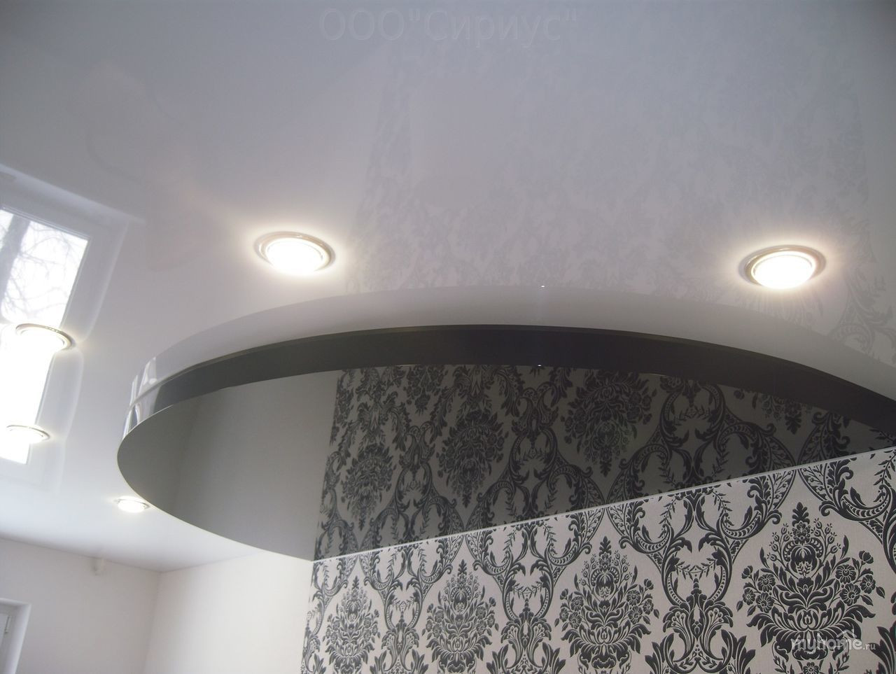 Black & White color glossy ceiling