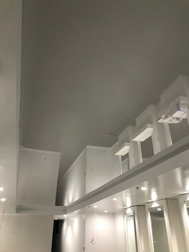 White color glossy ceiling