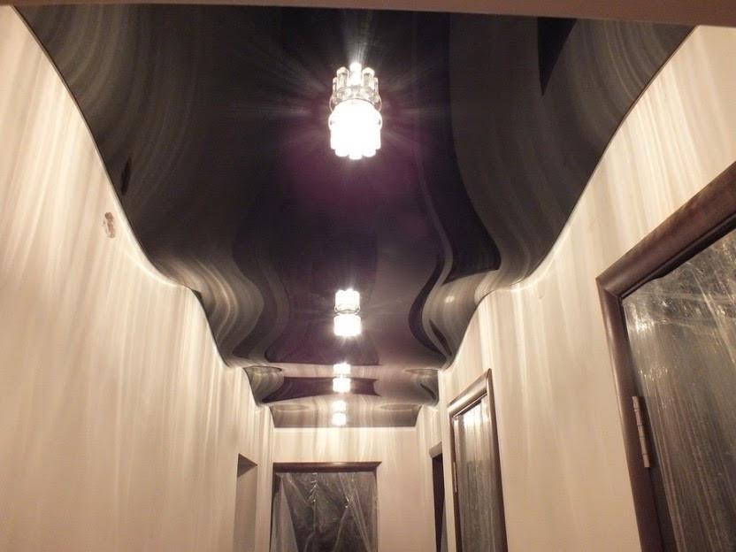 Black color wave ceiling