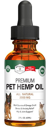 Premium Pet Hemp Oil