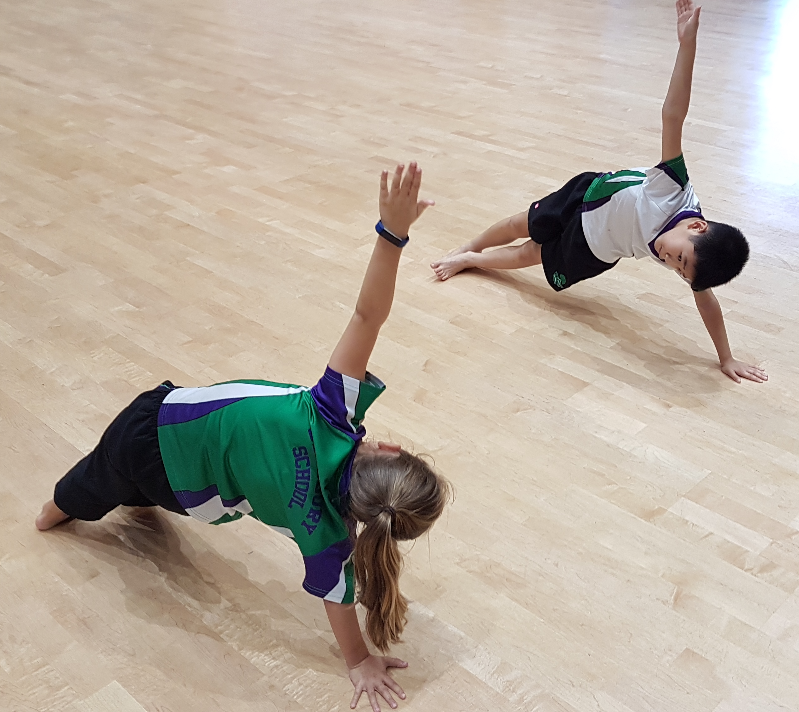 Children Side Plank