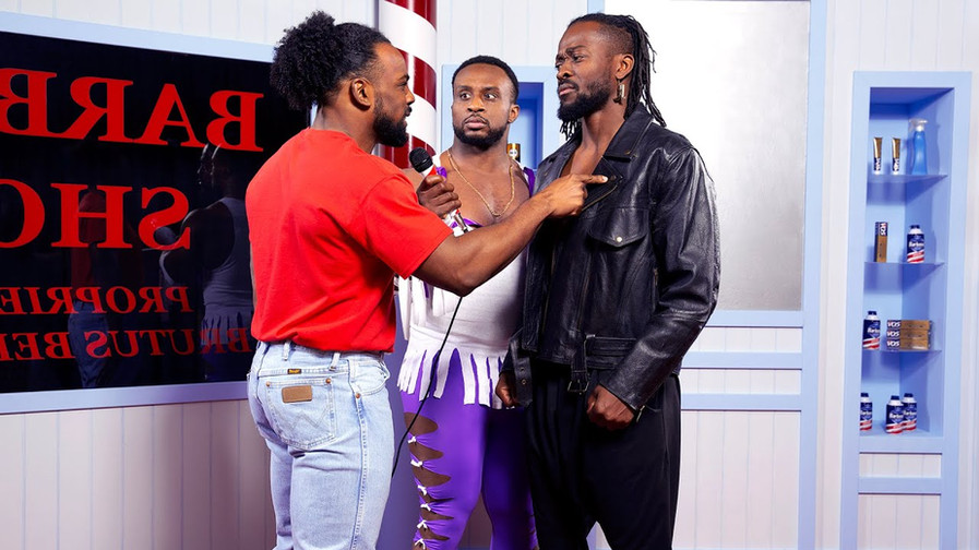 "The New Day recreates the ""Barber Shop Window Incident"""